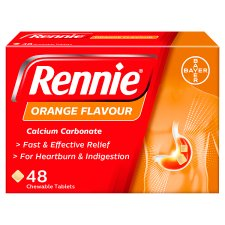 Rennie Orange Indigestion Tablets 48S
