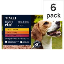 Tesco Tender Selection Dog Food Pate 6 X150g