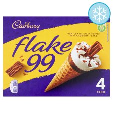 Cadbury Flake 99 Cones 4 X 125Ml