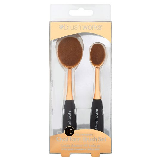 Brushworks Oval Brush Face Set