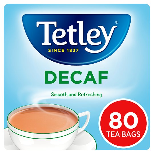 Tetley Decaffeinated 80 Teabags 250G