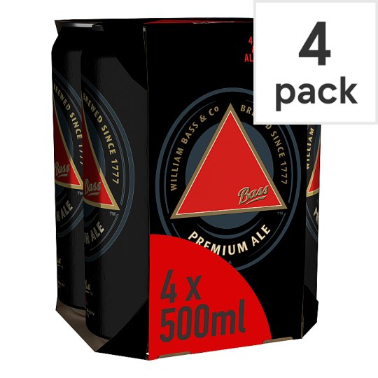 Bass Traditional Draught Ale 4X500ml Cans