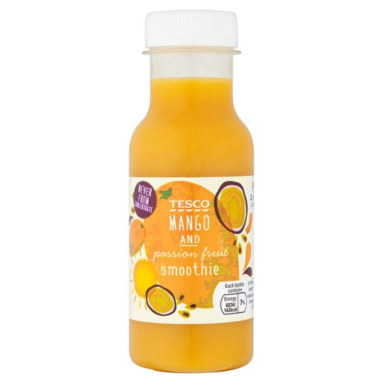 Tesco Mango And Passion Fruit Smoothie 250Ml