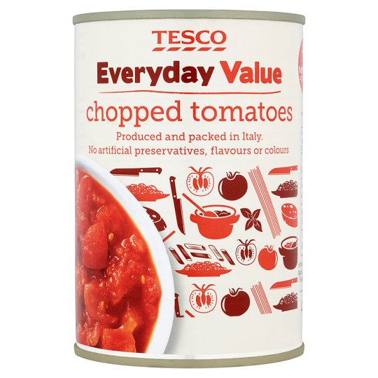 Tesco Everyday Value Chopped Tomatoes 400G