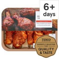 Tesco Ready To Eat Bbq Roast Chicken Drumsticks 430G