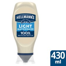 Hellmann's Light Squeezy Mayonnaise 430Ml