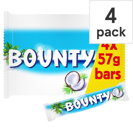 image 1 of Bounty Chocolate Multipack 4 X28.5G