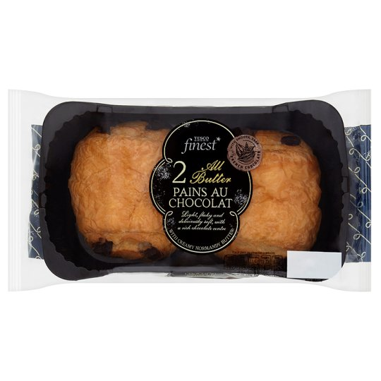 Tesco Finest All Butter Pains Au Chocolate 2 Pack