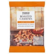 Tesco Honey Roasted Cashews 150G