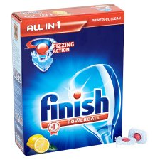 Finish All In 1 Dishwash Lemon 52'S
