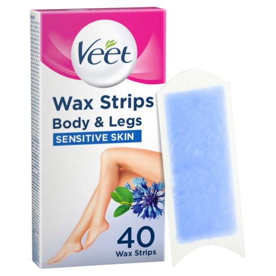 image 1 of Veet Sensitve Wax Strips 40 Pack