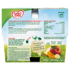 image 2 of Cow & Gate Fruit Cocktail Fruit Pot 4X100g 4 Mth+
