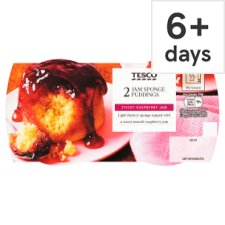 Tesco 2 Jam Sponge Puddings 220G