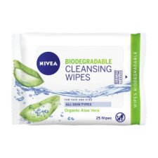 Nivea Biodegradable Daily Essential Cleansing Face Wipes 25S