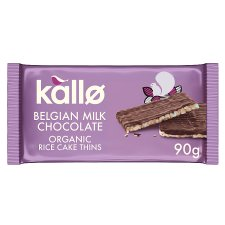 Kallo Organic Milk Chocolate Thin Rice Cakes 90G