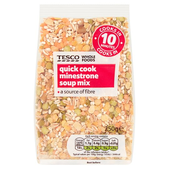 Tesco Wholefoods Quick Cook Minestrone Soup 250G