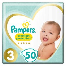 image 1 of Pampers New Baby Size 3 Essential Pack 50 Nappies