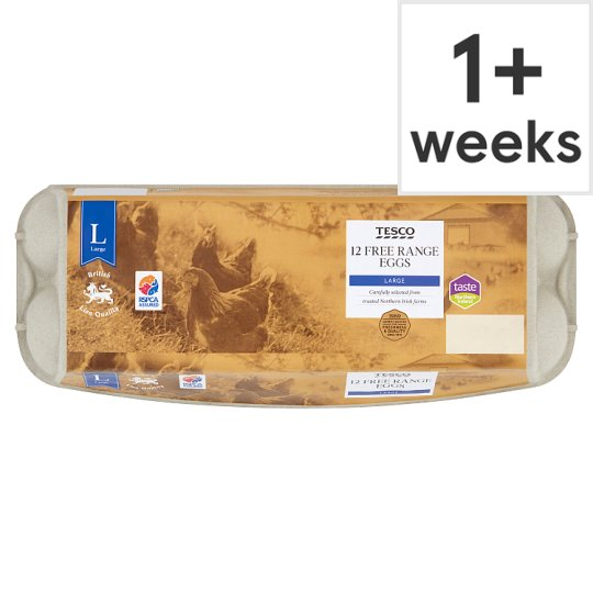 Tesco Large Free Range Eggs 12 Pack
