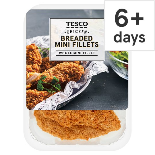 Tesco Breaded Chicken Mini Fillets 305G