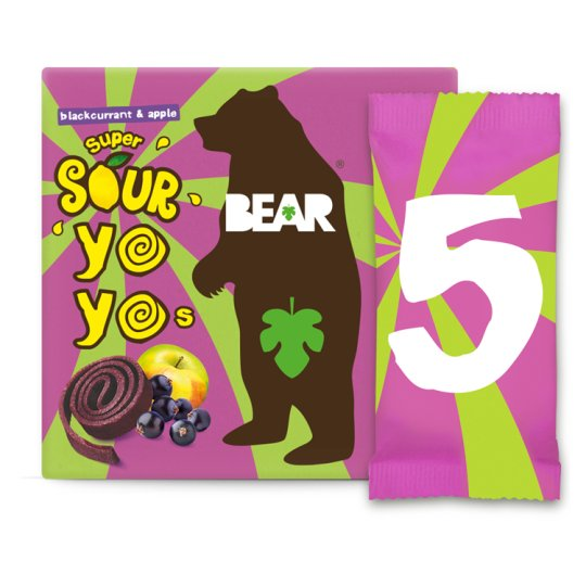 Bear Yoyo Sours Blackcurrant And Apple 100G