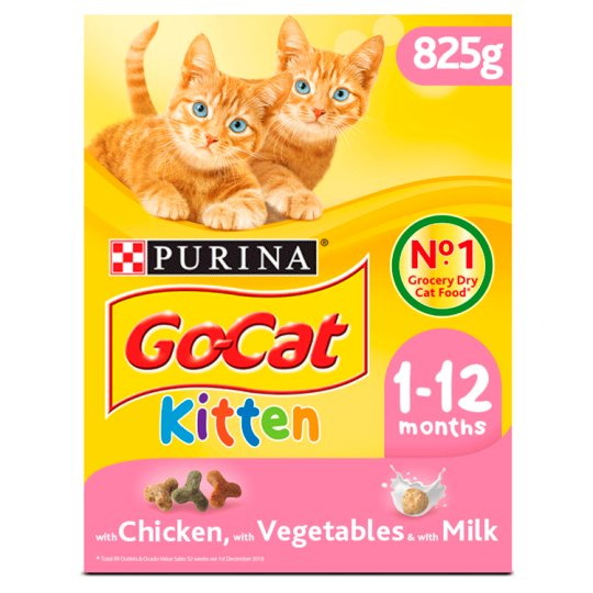 image 1 of Go Cat Kitten Chicken Carrot And Milk Nuggets 825G