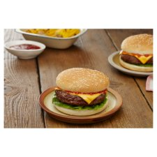 image 2 of Tesco Cheese Burgers In Buns 505G