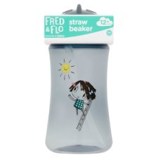 Fred & Flo Straw Beaker 380Ml