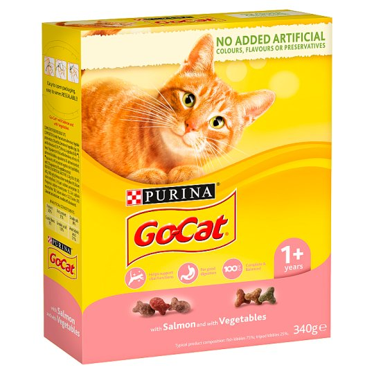 Go Cat Adult Salmon And Vegetable 340G