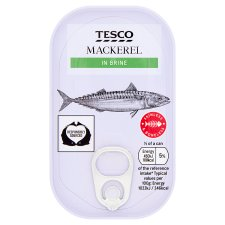 Tesco Skinless Boneless Scottish Mackerel In Brine 125G