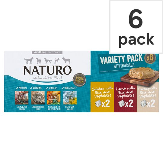 Naturo Adult Variety Dog Food Tray 6X400g