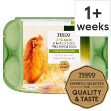 Tesco Mixed Sized Organic Eggs 6 Pack