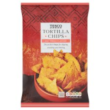Tesco Tortilla Chips Hot Chill Flavour 200G