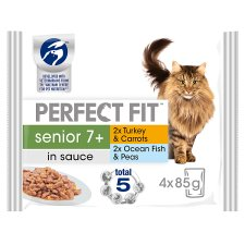 Perfect Fit Senior Cat Food Pouches 4 X 85G