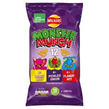Mega Monster Munch Variety Snacks 12 X 22 G