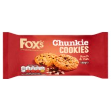 Fox's Fruit And Oat Chunkie Cookie 180G