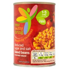 Tesco Healthy Living Reduced Sugar And Salt Baked Beans 420G