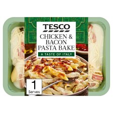 Tesco Italian Kitchen Chicken And Bacon Pasta Bake 450G