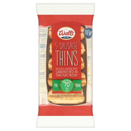 Walls Sausage Roll Thins 5 Pack 145G