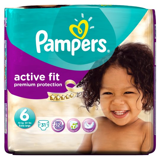 pampers active fit size 6 essential pack 31 nappies groceries tesco groceries. Black Bedroom Furniture Sets. Home Design Ideas