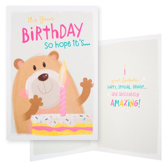 Hallmark Birthday Card It's Your Birthday So Hope It's