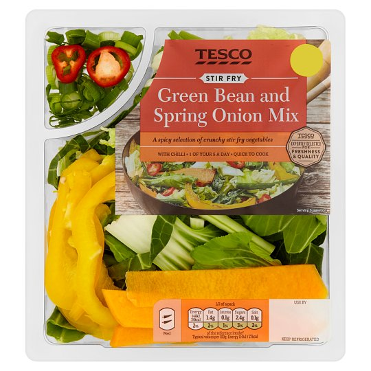 image 1 of Tesco Green Beans And Spring Onion Stir Fry 280G