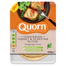 Quorn Meat Free Turkey And Sage Slices 100G
