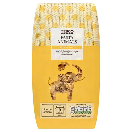Tesco Goodness Pasta Animals 500G