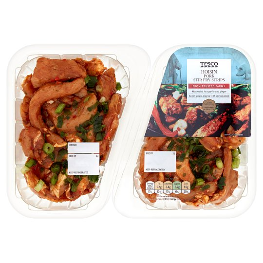 Tesco Hoisin Pork Stir Fry Strips 500G