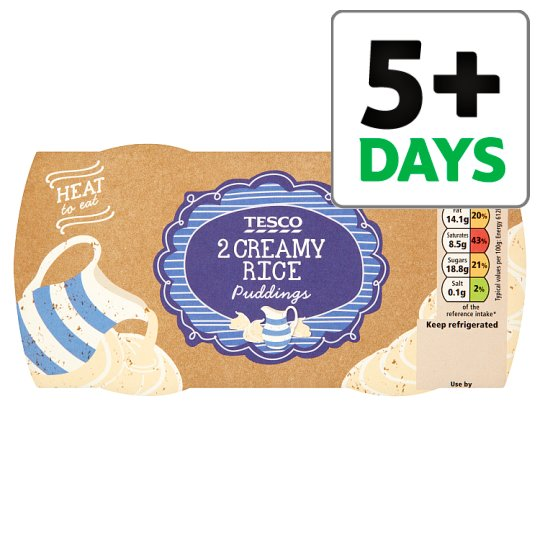 Tesco 2 Pack Creamy West Country Rice Pudding 380G