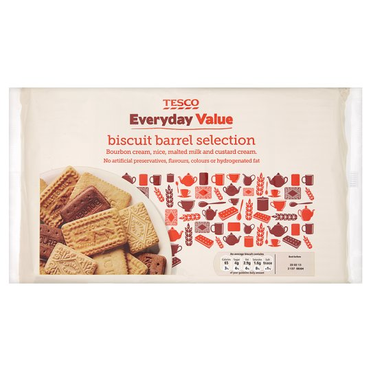 Tesco Everyday Value Biscuit Barrell 900G