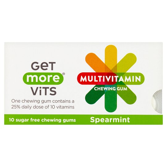 Get More Multi Vitamins Spearmint Chewing Gum 10 Pack