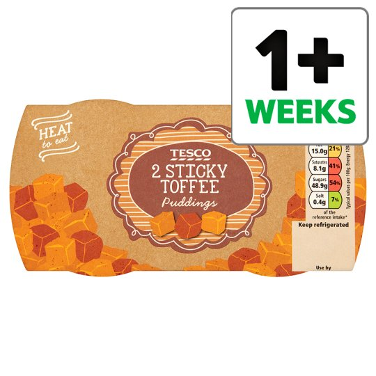 Tesco 2 Sticky Toffee Puddings 260G
