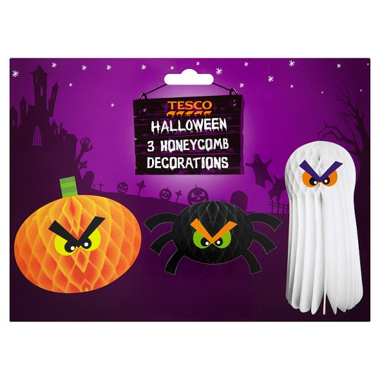 Tesco Halloween Cake Decoration : Tesco Halloween Honeycomb Decorations - Groceries - Tesco ...