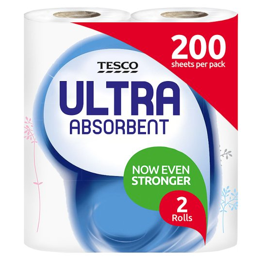 Tesco Kitchen Towel Ultra Absorbent Decorative 4 Roll